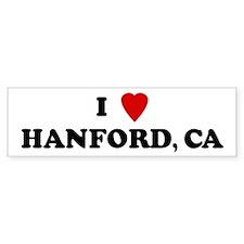I Love HANFORD Bumper Bumper Sticker