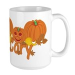 Halloween Pumpkin Cory Large Mug