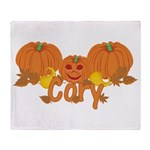 Halloween Pumpkin Cory Throw Blanket