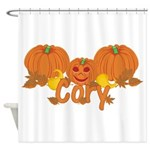 Halloween Pumpkin Cory Shower Curtain