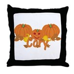Halloween Pumpkin Cory Throw Pillow
