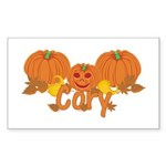 Halloween Pumpkin Cory Sticker (Rectangle)