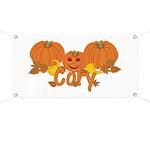 Halloween Pumpkin Cory Banner