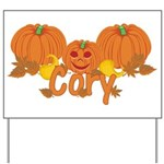 Halloween Pumpkin Cory Yard Sign