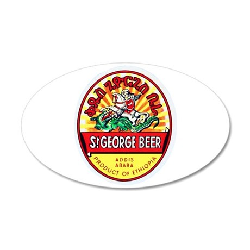 Ethiopia Beer Label 4 38.5 x 24.5 Oval Wall Peel