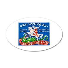 Ethiopia Beer Label 3 38.5 x 24.5 Oval Wall Peel
