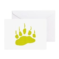 DIMPLED YELLOW BEAR PAW Greeting Cards (Package 10