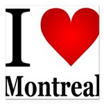 ilovemontreal.png Square Car Magnet 3