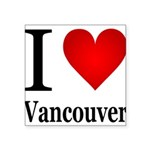 ilovevancouver.png Square Sticker 3