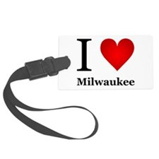 I Love Milwaukee Luggage Tag