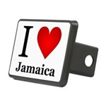 I Love Jamaica Rectangular Hitch Cover