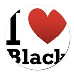 i-love-black-darkkkk-tee.png Round Car Magnet