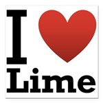 i-love-lime-light-tee.png Square Car Magnet 3