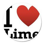 i-love-lime-light-tee.png Round Car Magnet