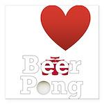 i-love-beer-pong-3-dark.png Square Car Magnet 3