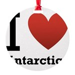i-love-antartica-light-tee.png Round Ornament