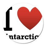 i-love-antartica-light-tee.png Round Car Magnet