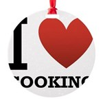i-love-cooking.png Round Ornament
