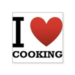 i-love-cooking.png Square Sticker 3