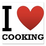 i-love-cooking.png Square Car Magnet 3