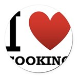 i-love-cooking.png Round Car Magnet