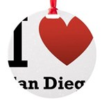 i-love-san-diego.png Round Ornament