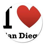 i-love-san-diego.png Round Car Magnet