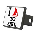 i-love-to-sail.png Rectangular Hitch Cover