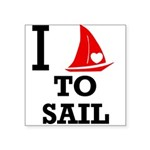 i-love-to-sail.png Square Sticker 3