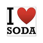 i-love-soda.png Square Sticker 3