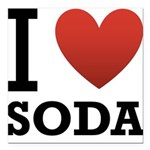 i-love-soda.png Square Car Magnet 3