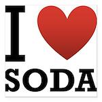 i-love-soda.png Square Car Magnet 3
