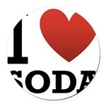 i-love-soda.png Round Car Magnet