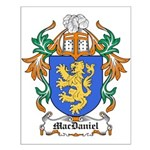 MacDaniel Coat of Arms Small Poster