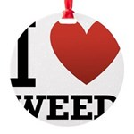 i-love-weed.png Round Ornament
