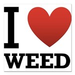 i-love-weed.png Square Car Magnet 3