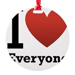 ihearteveryone.png Round Ornament