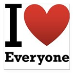 ihearteveryone.png Square Car Magnet 3