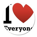 ihearteveryone.png Round Car Magnet