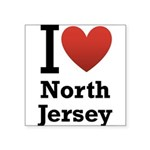 i love north jersey.png Square Sticker 3