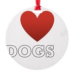 i-heart-dogs4.png Round Ornament