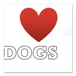 i-heart-dogs4.png Square Car Magnet 3