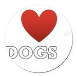 i-heart-dogs4.png Round Car Magnet
