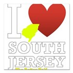 I love South Jersey Square Car Magnet 3