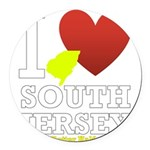 I love South Jersey Round Car Magnet