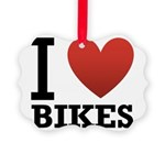 i-love-bikes.png Picture Ornament