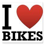 i-love-bikes.png Square Car Magnet 3