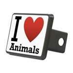 i-love-animals.png Rectangular Hitch Cover