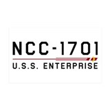 USS Enterprise Original Dark Wall Sticker