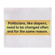 Politicians & Diapers Throw Blanket